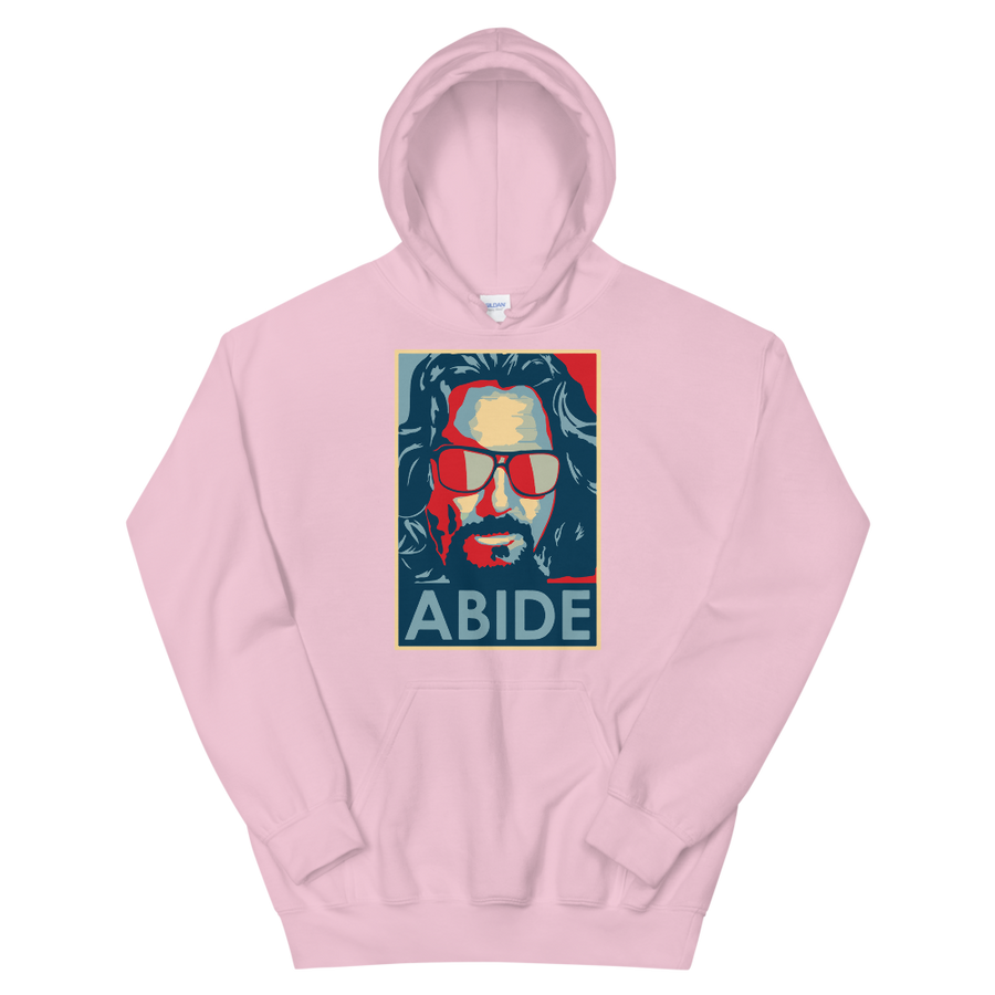 Big Lebowski Abide, Hope Style Artwork Unisex Hoodie - Light Pink / S by Art-O-Rama