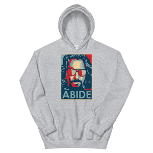Big Lebowski Abide, Hope Style Artwork Unisex Hoodie - Sport Grey / S by Art-O-Rama