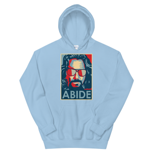 Big Lebowski Abide, Hope Style Artwork Unisex Hoodie - Light Blue / S by Art-O-Rama