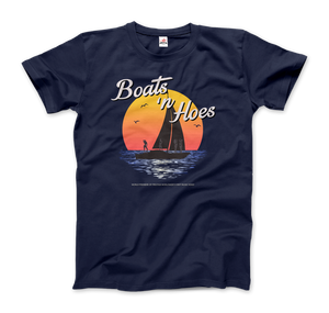 Boats and Hoes, Step Brothers Artwork T-Shirt - Men / Navy / Small by Art-O-Rama