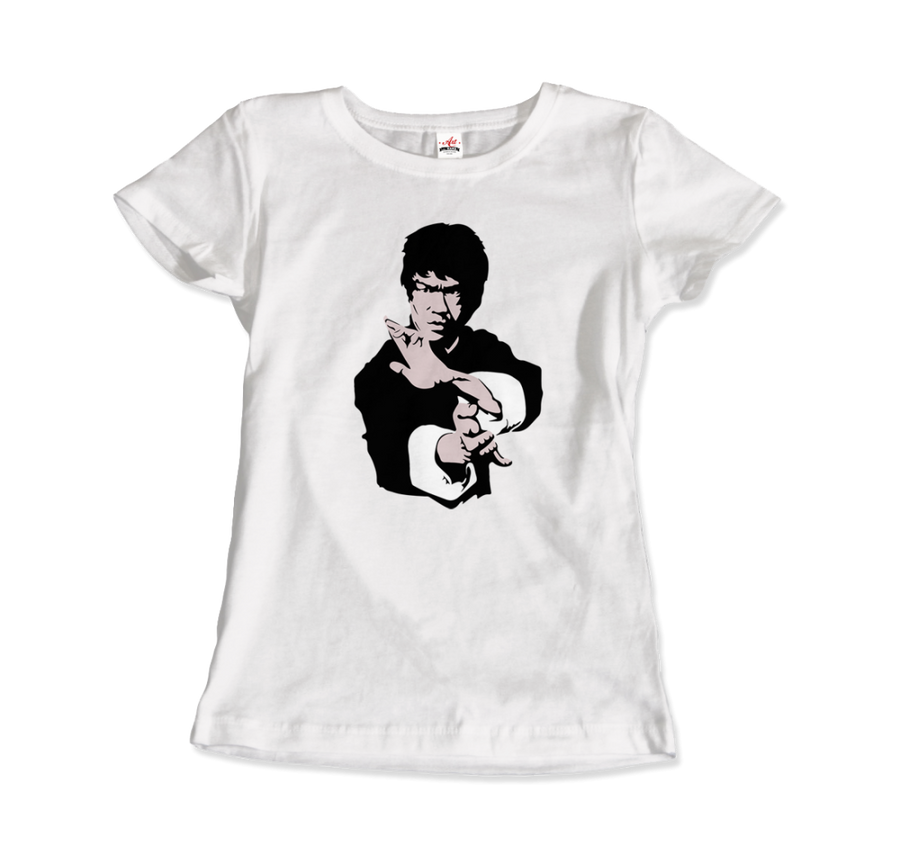 Bruce Lee Doing his Famous Kung Fu Pose Artwork T-Shirt - Art-O-Rama