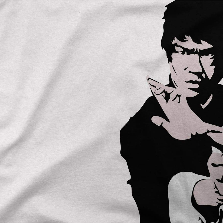 Bruce Lee Doing his Famous Kung Fu Pose Artwork T-Shirt - [variant_title] by Art-O-Rama