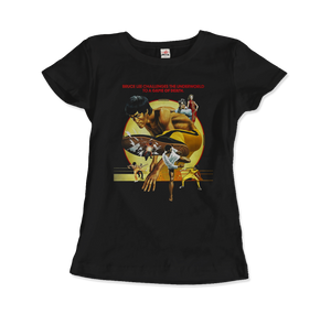 Bruce Lee Game of Death 1978 Movie Artwork T-Shirt - Women / Black / Small by Art-O-Rama