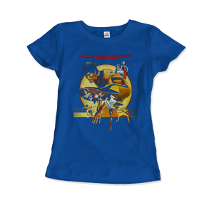 Bruce Lee Game of Death 1978 Movie Artwork T-Shirt - Women / Royal Blue / Small by Art-O-Rama