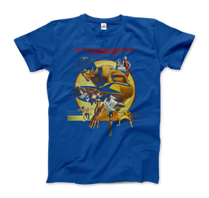 Bruce Lee Game of Death 1978 Movie Artwork T-Shirt - Men / Royal Blue / Small by Art-O-Rama