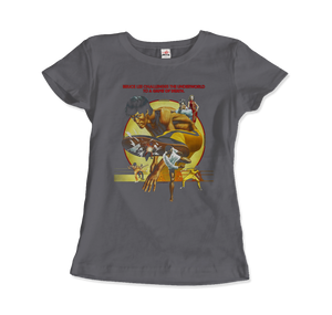Bruce Lee Game of Death 1978 Movie Artwork T-Shirt - Women / Charcoal / Small by Art-O-Rama