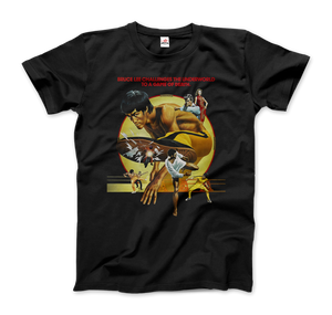Bruce Lee Enter the Dragon 1978 Movie Artwork T-Shirt - Men / Black / Small by Art-O-Rama