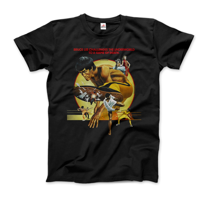 Bruce Lee Game of Death 1978 Movie Artwork T-Shirt - Men / Black / Small by Art-O-Rama