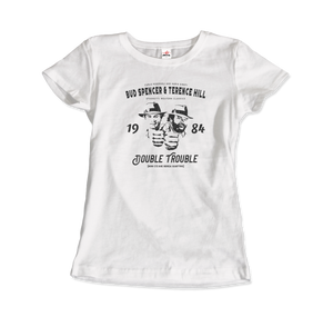 Bud Spencer & Terence Hill Double Trouble T-Shirt - Women / White / Small by Art-O-Rama