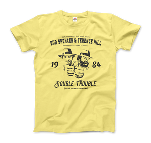 Bud Spencer & Terence Hill Double Trouble T-Shirt - Men / Spring Yellow / Small by Art-O-Rama