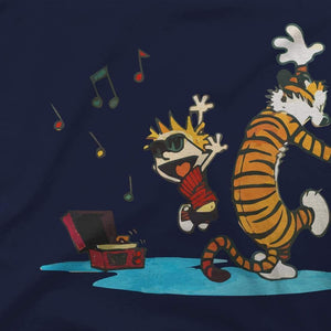 Calvin and Hobbes Dancing with Record Player T-Shirt - [variant_title] by Art-O-Rama