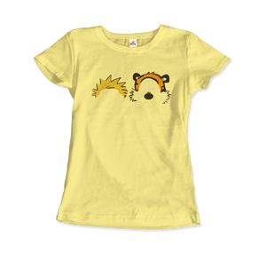 Calvin and Hobbes Faces Contour Artwork T-Shirt - Women / Spring Yellow / Small by Art-O-Rama