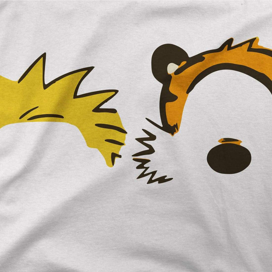 Calvin and Hobbes Faces Contour Artwork T-Shirt - [variant_title] by Art-O-Rama