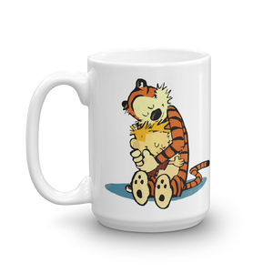 Calvin and Hobbes Hugging Artwork Mug - 15oz (444mL) by Art-O-Rama