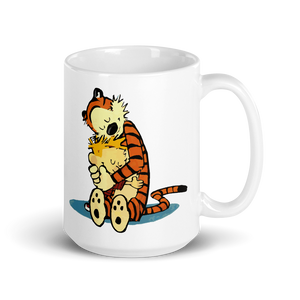 Calvin and Hobbes Hugging Artwork Mug - Mug