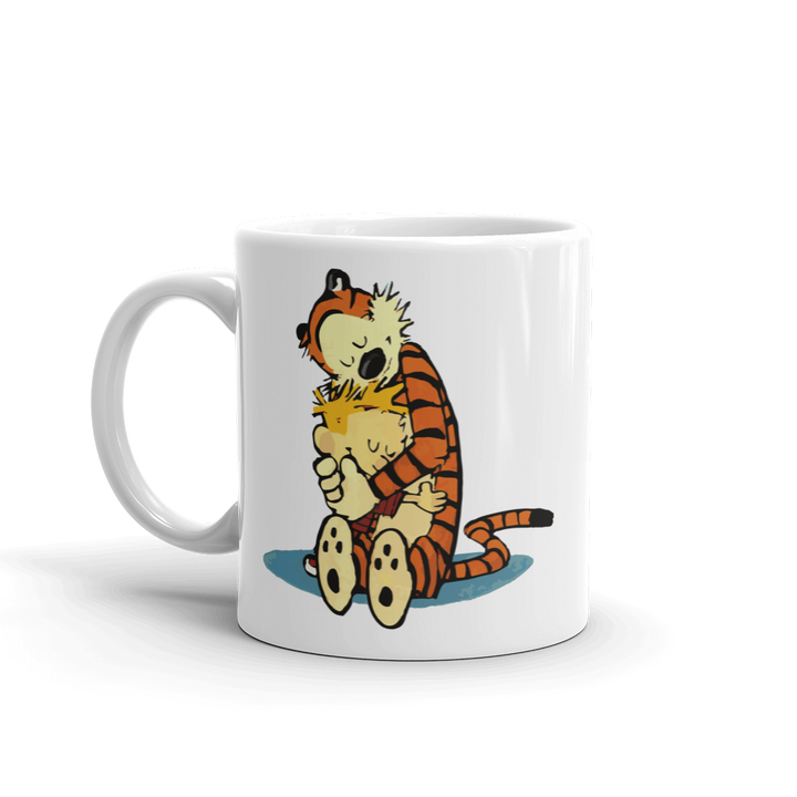 Calvin and Hobbes Hugging Artwork Mug - 11oz (325mL) by Art-O-Rama
