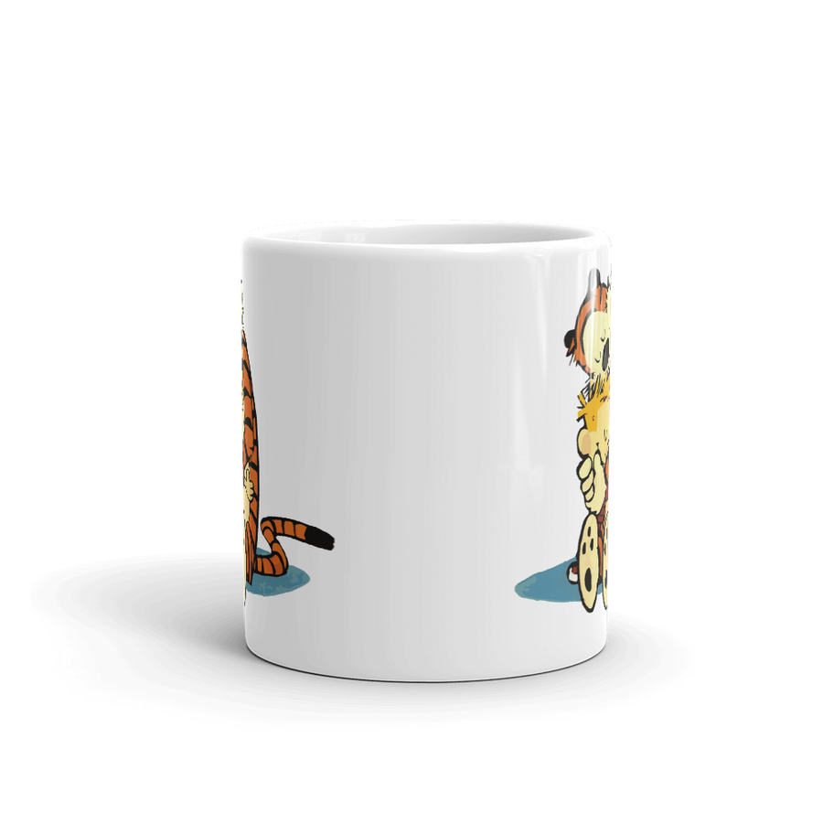Calvin and Hobbes Hugging Artwork Mug - [variant_title] by Art-O-Rama