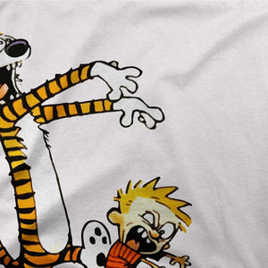 Calvin and Hobbes Playing Zombies Artwork T-Shirt - [variant_title] by Art-O-Rama
