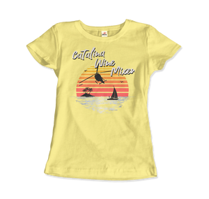 Catalina Wine Mixer Step Brothers Movie T-Shirt - Women / Spring Yellow / Small - T-Shirt