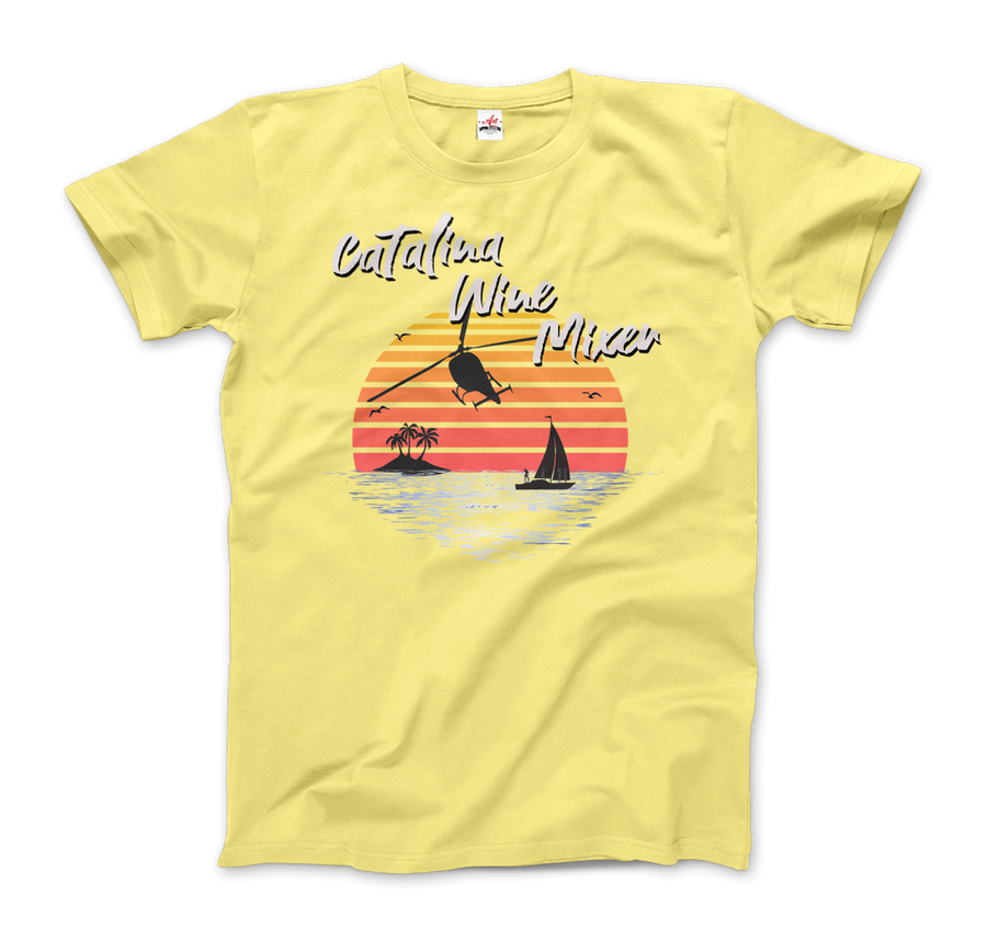 Catalina Wine Mixer Step Brothers Movie T-Shirt - Men / Spring Yellow / Small - T-Shirt