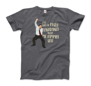 David Brent Classic Dance from The Office UK T-Shirt - Men / Charcoal / Small - T-Shirt