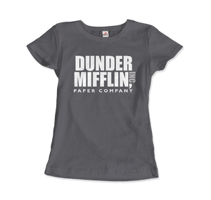 Dunder Mifflin Paper Company, Inc from The Office T-Shirt - Women / Charcoal / Small by Art-O-Rama