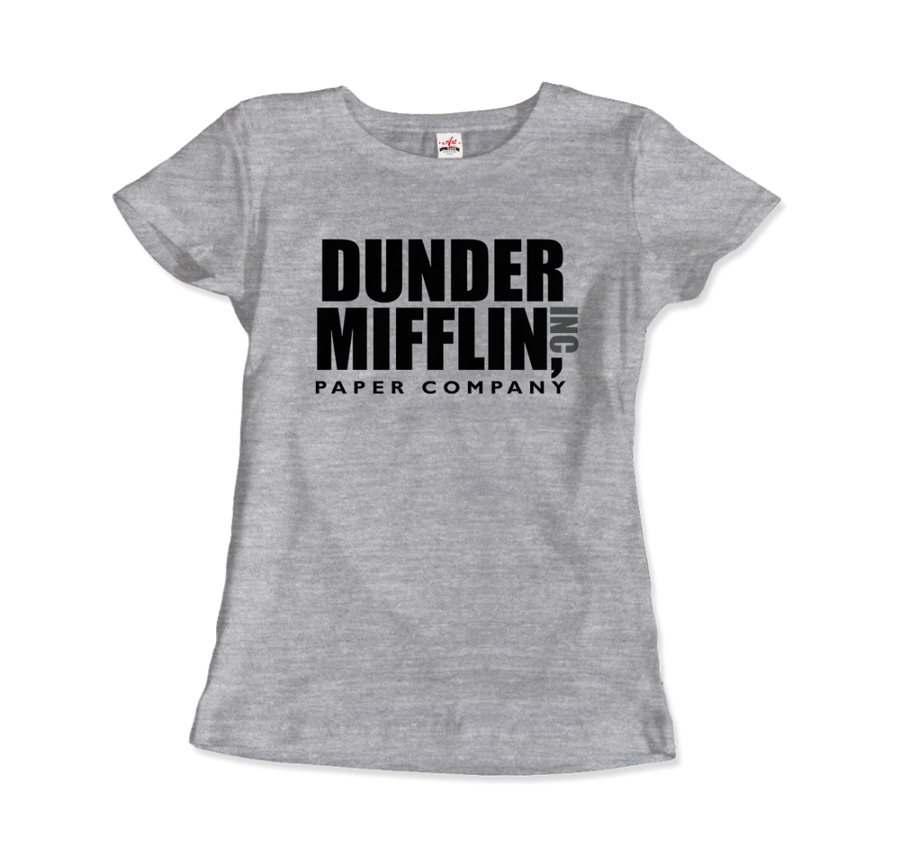 Dunder Mifflin Paper Company, Inc from The Office T-Shirt - Women / Heather Grey / Small by Art-O-Rama