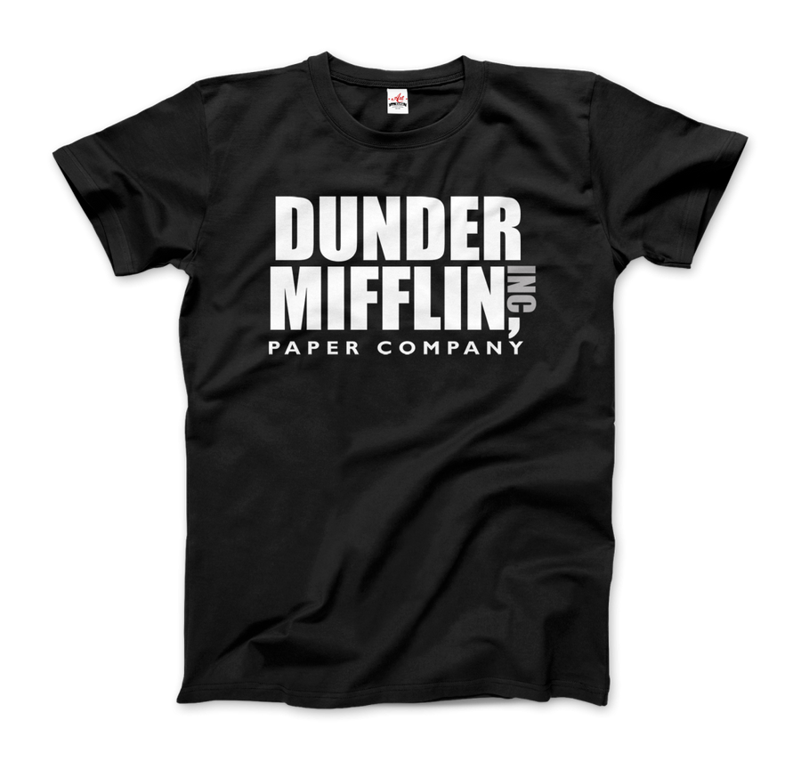 Dunder Mifflin Paper Company, Inc from The Office T-Shirt - Men / Black / Small by Art-O-Rama