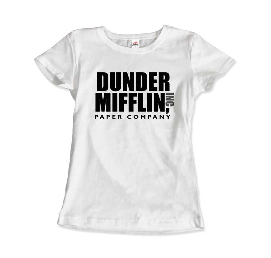 Dunder Mifflin Paper Company, Inc from The Office T-Shirt - Women / White / Small by Art-O-Rama