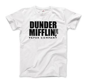 Dunder Mifflin Paper Company, Inc from The Office T-Shirt - Men / White / Small by Art-O-Rama