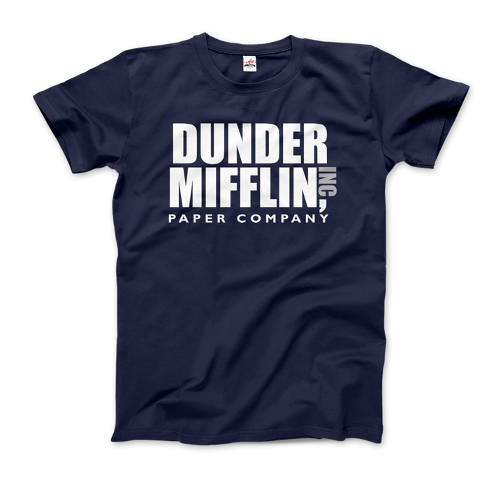Dunder Mifflin Paper Company, Inc from The Office T-Shirt - Men / Navy / Small by Art-O-Rama