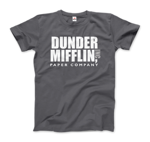 Dunder Mifflin Paper Company, Inc from The Office T-Shirt - Men / Charcoal / Small by Art-O-Rama