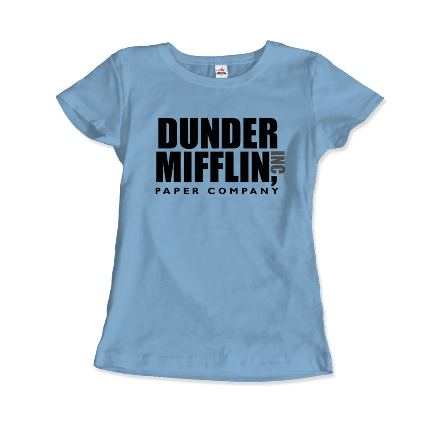 Dunder Mifflin Paper Company, Inc from The Office T-Shirt - Women / Light Blue / Small by Art-O-Rama