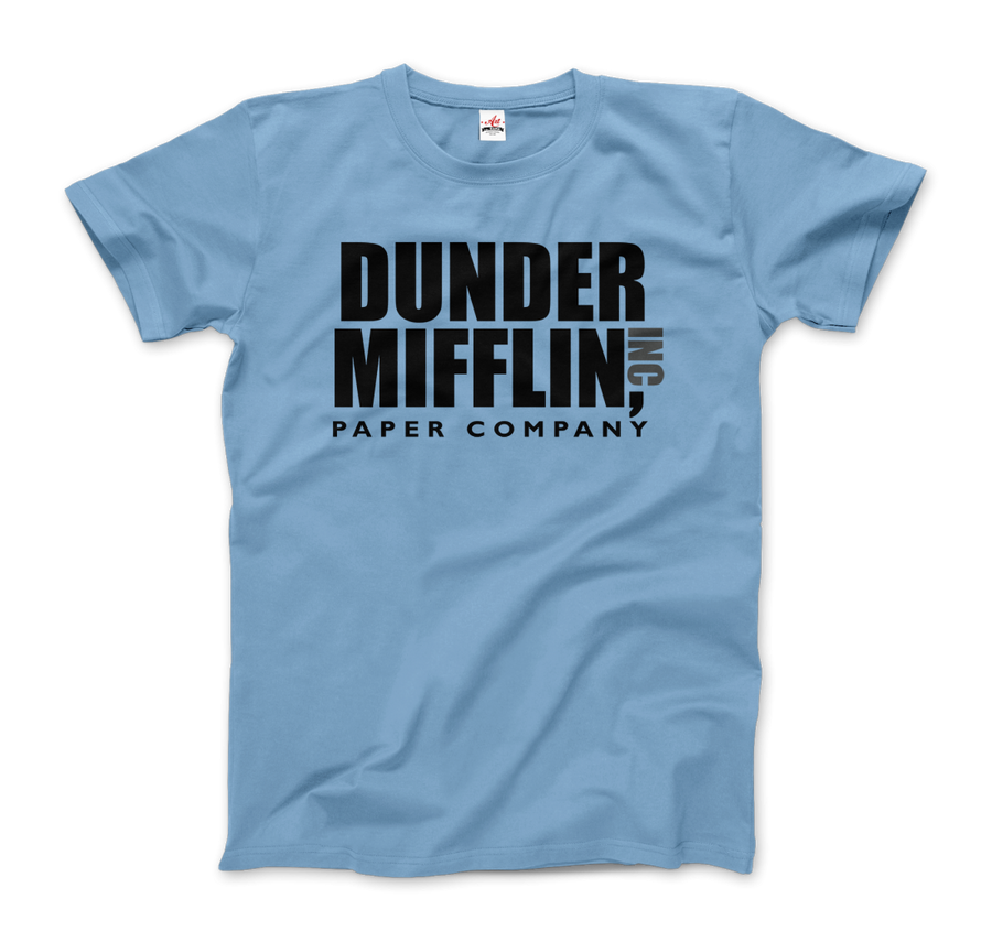 Dunder Mifflin Paper Company, Inc from The Office T-Shirt - Men / Light Blue / Small by Art-O-Rama