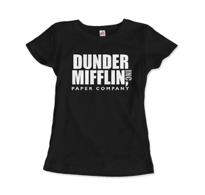 Dunder Mifflin Paper Company, Inc from The Office T-Shirt - Women / Black / Small by Art-O-Rama