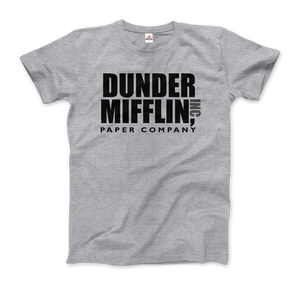 Dunder Mifflin Paper Company, Inc from The Office T-Shirt - Men / Heather Grey / Small by Art-O-Rama