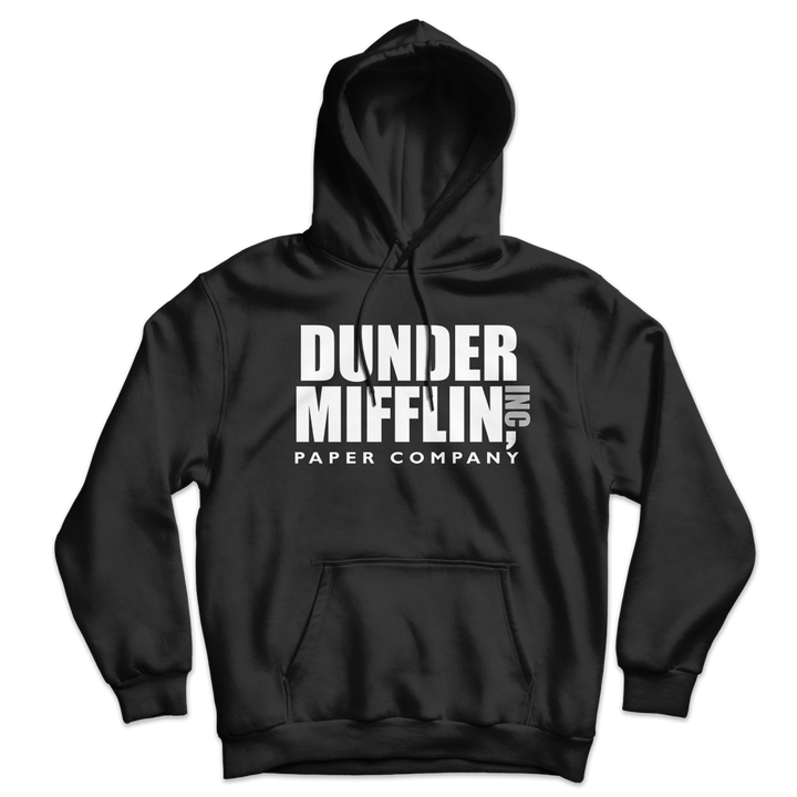 Dunder Mifflin Paper Company Inc from The Office Unisex Hoodie - Black / S by Art-O-Rama