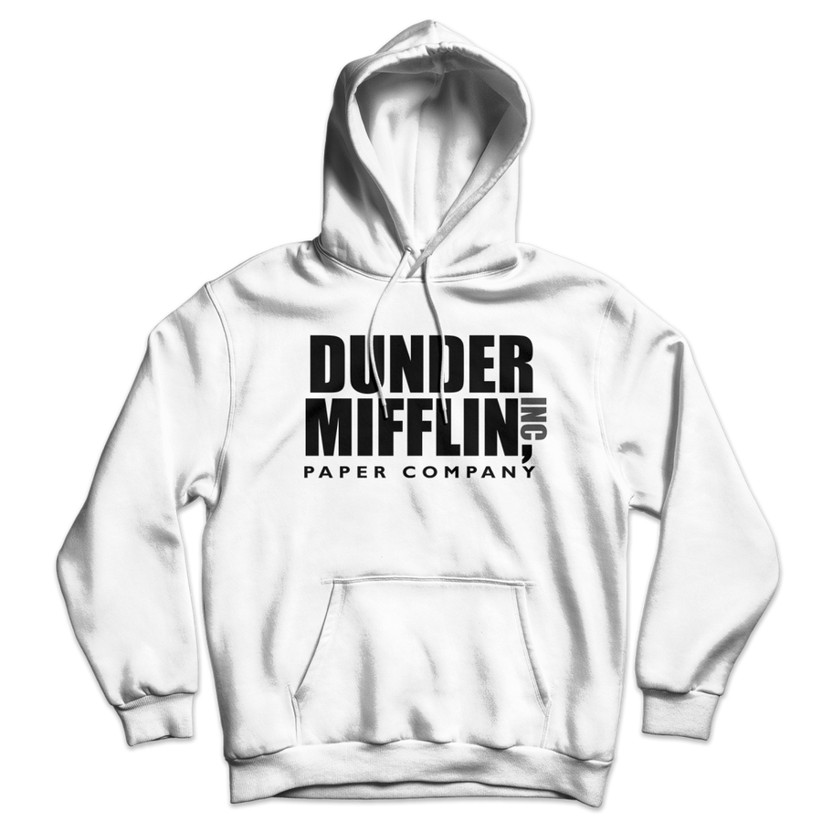 Dunder Mifflin Paper Company Inc from The Office Unisex Hoodie - White / S by Art-O-Rama