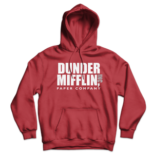 Dunder Mifflin Paper Company Inc from The Office Unisex Hoodie - Red / S by Art-O-Rama