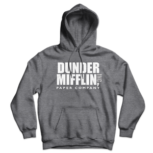 Dunder Mifflin Paper Company Inc from The Office Unisex Hoodie - Dark Heather / S by Art-O-Rama