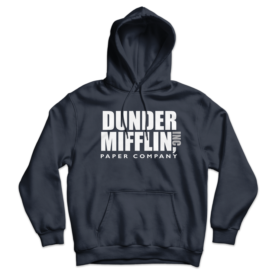 Dunder Mifflin Paper Company Inc from The Office Unisex Hoodie - Navy / S by Art-O-Rama