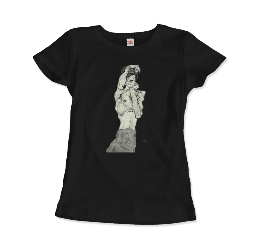 Egon Schiele Zeichnungen II (Drawings 2) 1914 T-Shirt - Women / Black / Small by Art-O-Rama