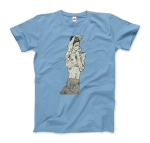 Egon Schiele Zeichnungen II (Drawings 2) 1914 T-Shirt - Men / Light Blue / Small by Art-O-Rama