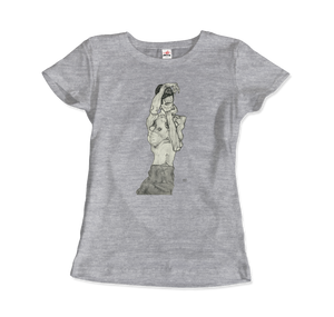 Egon Schiele Zeichnungen II (Drawings 2) 1914 T-Shirt - Women / Heather Grey / Small by Art-O-Rama