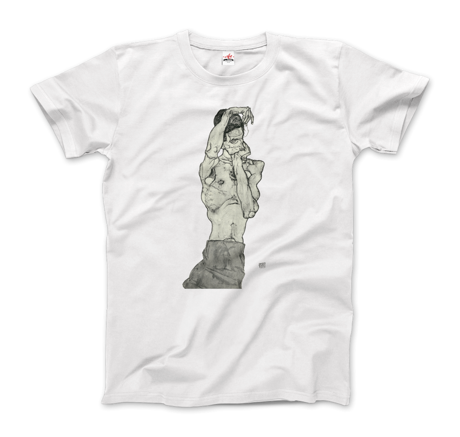 Egon Schiele Zeichnungen II (Drawings 2) 1914 T-Shirt - Men / White / Small by Art-O-Rama