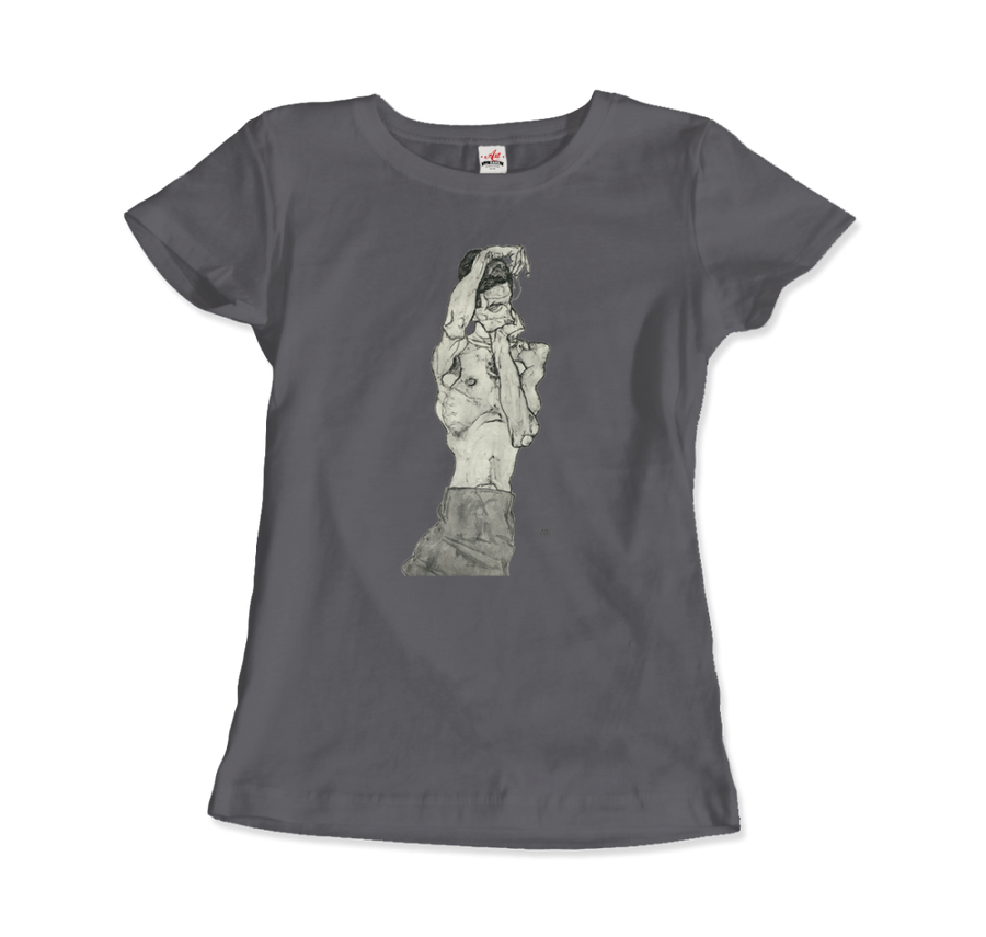 Egon Schiele Zeichnungen II (Drawings 2) 1914 T-Shirt - Women / Charcoal / Small by Art-O-Rama