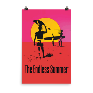 "Endless Summer 1966 Surf Documentary Artwork Poster - Matte / 24"" (W) x 36"" (H) by Art-O-Rama"