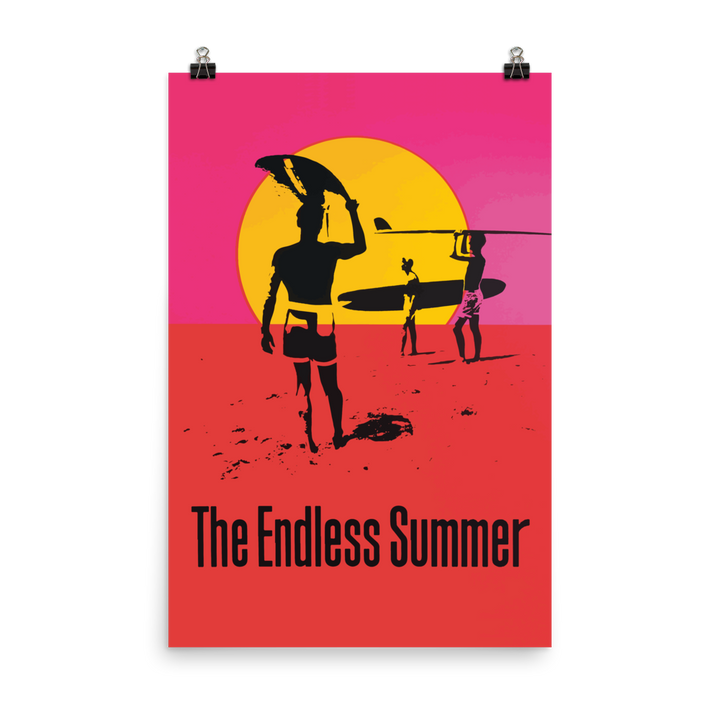 Endless Summer 1966 Surf Documentary Artwork Poster - Matte / 24 (W) x 36 (H) - Poster