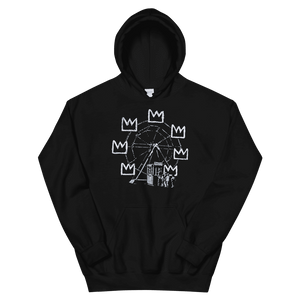 Banksy Ferris Wheel Homage to Basquiat Artwork Unisex Hoodie - Black / S by Art-O-Rama