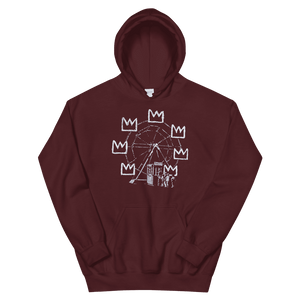 Banksy Ferris Wheel Homage to Basquiat Artwork Unisex Hoodie - Maroon / S by Art-O-Rama